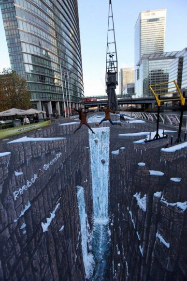 Worlds largest 3D street art.