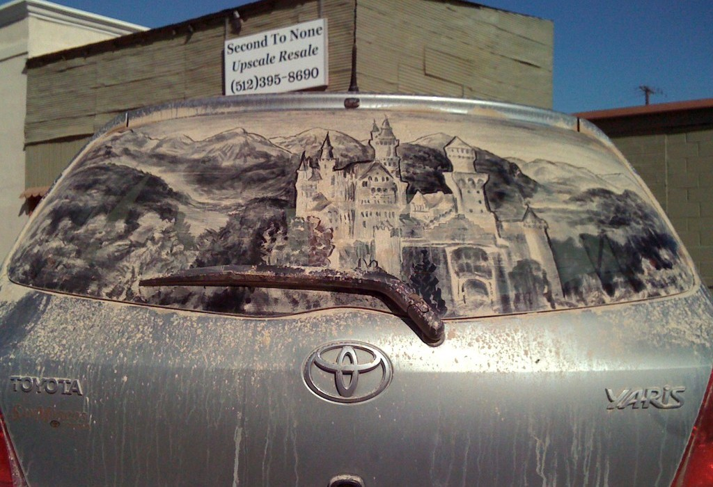 Dirty Car Window Art