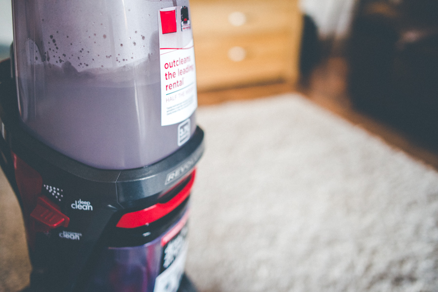 Bissell carpet cleaner with the carpet shampoo mixed with the warm water. Out cleans the leading rental. I'd totally agree with this - certainly beat the Rug Doctor which I've rented previously