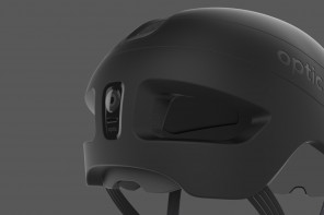 Award winning Optic cycling helmet has genius drop-down visor