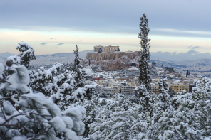 Snow Covered Athens Is A Cool Thing
