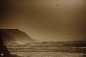 Storm Ophelia Photographed At Porthtowan, Cornwall