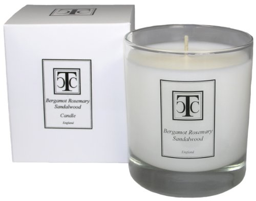 Rosemary Sandalwood Scented Candle by TCC Bergamot