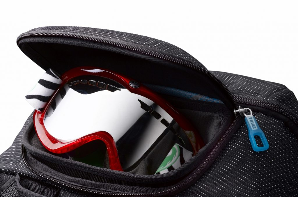 Removable and lockable crushproof SafeZone compartment protects your sunglasses, iPhone®, portable electronics, and other fragile gear